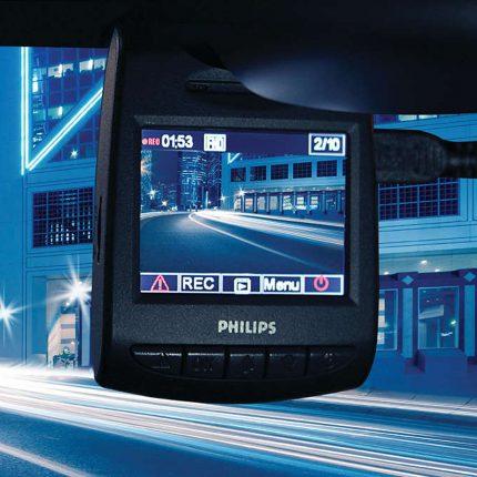 กล้องบันทึกวิดีโอขณะขับขี่รถยนต์ Philips ADR8005